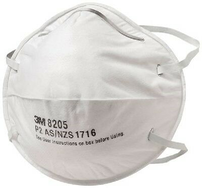 20 x 3M Cupped Respirator P2 -Mask protects from dusts, mists and fumes