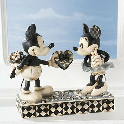 """JIm Shore Disney Traditions Mickey and Minnie Mouse """"Real Sweetheart"""" NIB"""