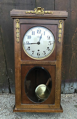 Ancienne horloge murale vedette style louis xv carillon 8 for Grosse horloge murale ancienne