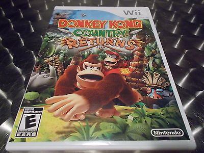WII DONKEY KONG COUNTRY RETURNS GAME+CASE+MANUAL