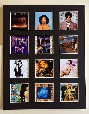 """Prince 14"""" By 11"""" Lp Discography Covers Picture Mounted Ready To Frame"""