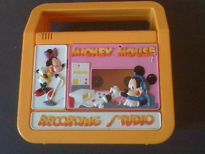 VINTAGE AUTHENTIC WALT DISNEY MICKEY & MINI MOUSE CASSETTE PLAYER & RECORDER