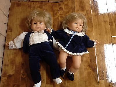 "Gotz Modell CHUNKY Approx 22"" To 23"" Blonde Boy Girl Twins Twin Beautiful"