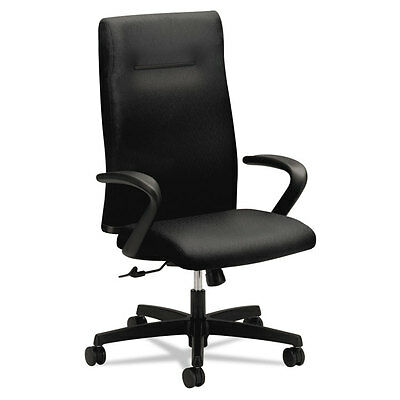 Ignition Series Executive High-Back Chair, Black Fabric Upholstery