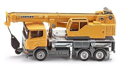 Scania Liebherr telescopic crane truck, Siku 1859, HO 1/87  die-cast scale model