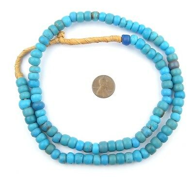 African Turquoise Blue Padre Beads  Ethiopia