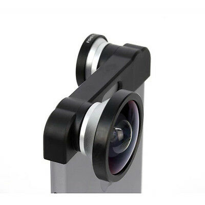 3 in 1 180 degree Wide Angle Macro Camera Fisheye Lens Kit for Apple iPhone5 5S