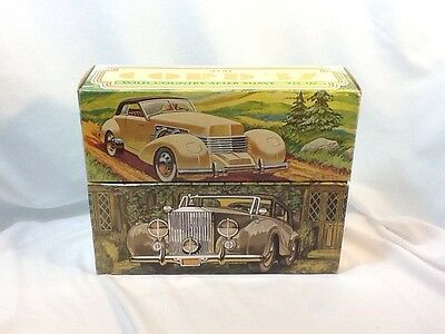 2- AVON COLLECTABLE CAR DECANTER, CORD 37, ROLLS-ROYCE WITH BOX