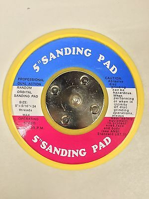 "NEW 5"" Professional Dual Action Random Orbital Sanding Back Up Base Pad USA SHIP"