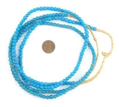 African Padre Beads - Baby Olombo (Turquoise) Nigeria