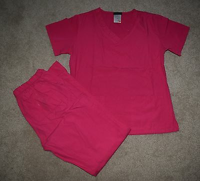 Baby Phat by Kimora Lee Simmons 2 Piece Womens Scrub Set Size Extra Small, Pink