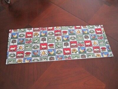 Farm Country Animal mini table runner bathroom decoration topper cow rooster egg