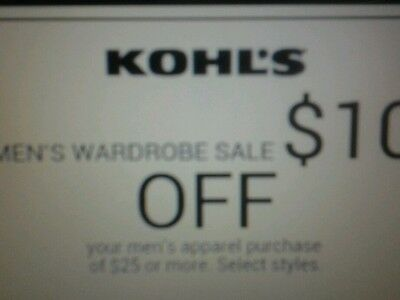 2 Kohl's coupons10 off 30 jounios plus apparel purchase  & I0 womens exp.april 1