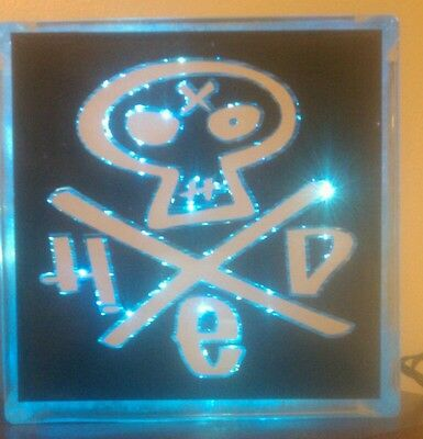 Personalized Lighted HED PE Glass Block Light~ Home Decor~Gift~Lamp