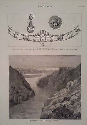 1880 PRINT THE ROYAL ORDER OF THE WHITE ELEPHANT-THE DERONTA GORGE,AFGHANISTAN
