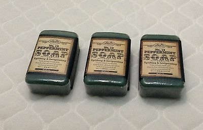 3 bars of Peppermint Soap 4 oz. Sprouts Brand No 13. 100% natural triple milled
