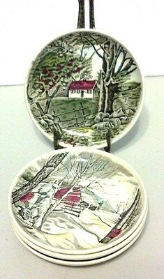"""Johnson Brothers Friendly Village 4 1/8"""" Coaster/Butter Pat (4)"""