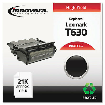 Remanufactured 12A7362 (T63X) Toner, 21000 Yield, Black