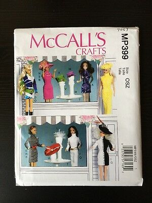 """McCalls Sewing Pattern 7067 Vintage Clothes For 11 1/2"""" Dolls New"""