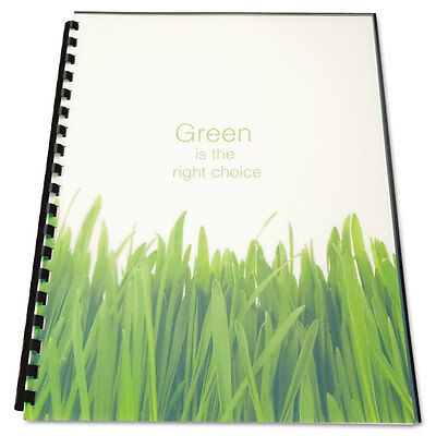 100% Recycled Poly Binding Cover, 11 x 8-1/2, Frost, 25/Pack