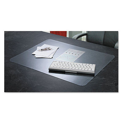 KrystalView Desk Pad with Microban, 24 x 19, Clear