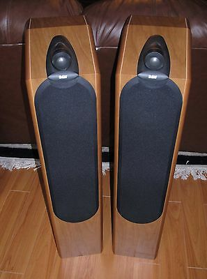 B&W CDM 9NT Main / Stereo Speakers Natural Cherry with Sound Anchor stands