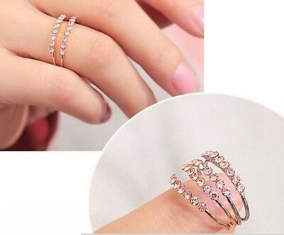 Free shipping! Sz 8 Womens 14K Yellow Gold Plated AAA Cubic Zirconia Ring Y-F595