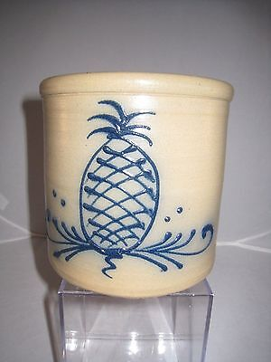 VINTAGE MAPLE CITY POTTERY PINEAPPLE CROCK MONMOUTH IL 1980