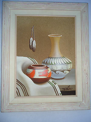 LISTED ARTIST Myung Mario Jung Original Art Sand Pottery Oil Painting Signed