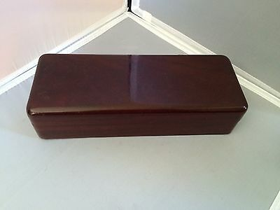 ANTIQUE VINTAGE MOHOGANY SMALL WOODEN BOX