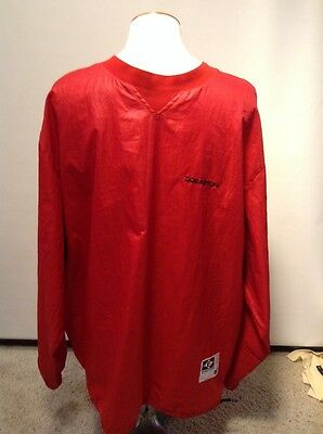 Easton BATTING PRACTICE Pitchers WarmUp Pullover BASEBALL Jacket Xl Red