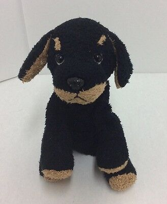 "Russ Luv Pets Dog Black Brown 4"" Plush Mini Stuffed Animal"