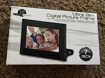 Digital Picture Frame- Ultra Slim- 7 Inch Color LCD Display- BRAND NEW- In Box
