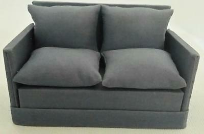 Modern Style Dollhouse Upholstered Sofa Pitty Pat Miniatures