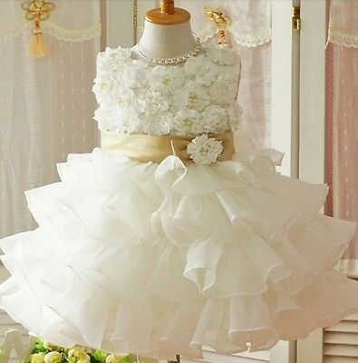 Flower Girl Christening Wedding Party Pageant Dress Baby First Communion Dresses
