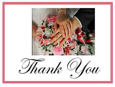 25 Personalized WEDDING Favors Custom THANK YOU Note CARDS HOLDING HANDS