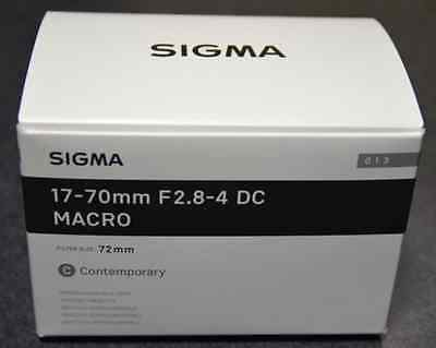 Brand-New SIGMA Zoom Lens Contemporary 17-70mm F2.8-4 DC MACRO HSM for SONY