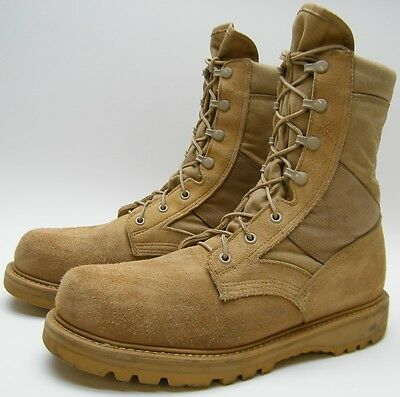 U.S. Army Hot Weather Desert TAN SUEDE Combat HIKING Boots 8430 SZ 10 R 10R USA