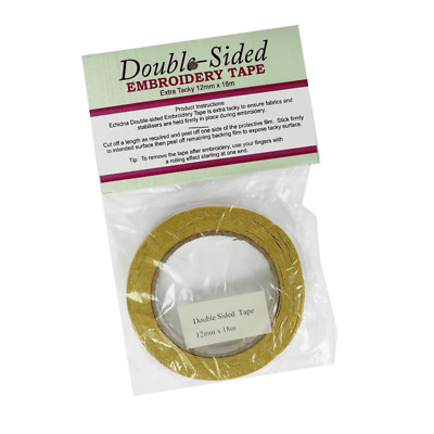 Double Sided Tape Narrow - Yellow 12 Mm