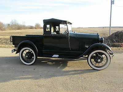Ford : Model A MODEL A ROADSTER  1929 ford model a roadster open cab pickup truck original henry ford steel 30