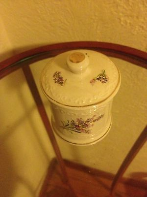 Crown Devon Fortnum And Mason Purple Flowers Small Canister Jar