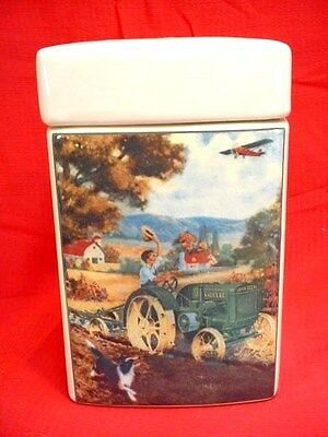 JOHN DEERE MODEL D CANISTER - R. A. FOX ARTWORK FROM 1929 AD - NEVER USED