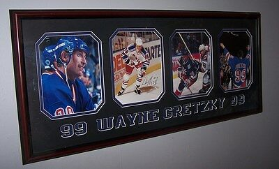Wayne Gretzky Signed New York Rangers Farewell Framed Collage - Four  Pictures