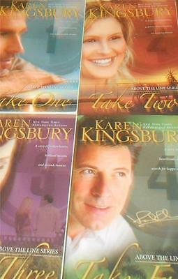 """Lot of 4 Karen Kingsbury """"Above The Line"""" Complete Softcover Series"""