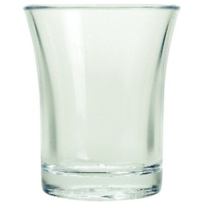 Polystyrene Shot Glasses 25ml, Reusable shot glass-life cycle 100 washes appx.