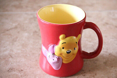 WINNIE THE POOH PIGLET 3D DISNEY STORE CERAMIC COFFEE MUG CUP FRIENDS FOREVER