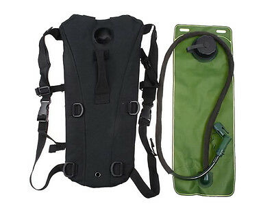 New Airsoft Military 3L Hydration Pack Water Backpack Hiking Climbing Black
