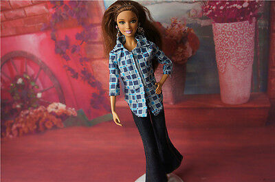COOL GORGEOUS Handmade The original clothes dress for barbies doll C316
