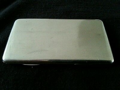 Victorian Solid Silver Card Case 1889