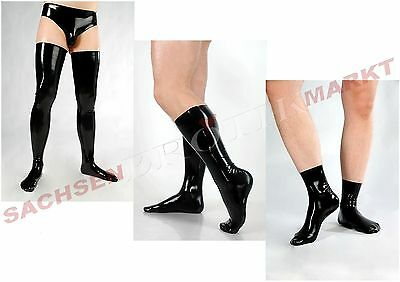Latex Strümpfe Socken Fetisso Latexstrümpfe Latexsocken Rubber Gummi Stockings • EUR 49,95